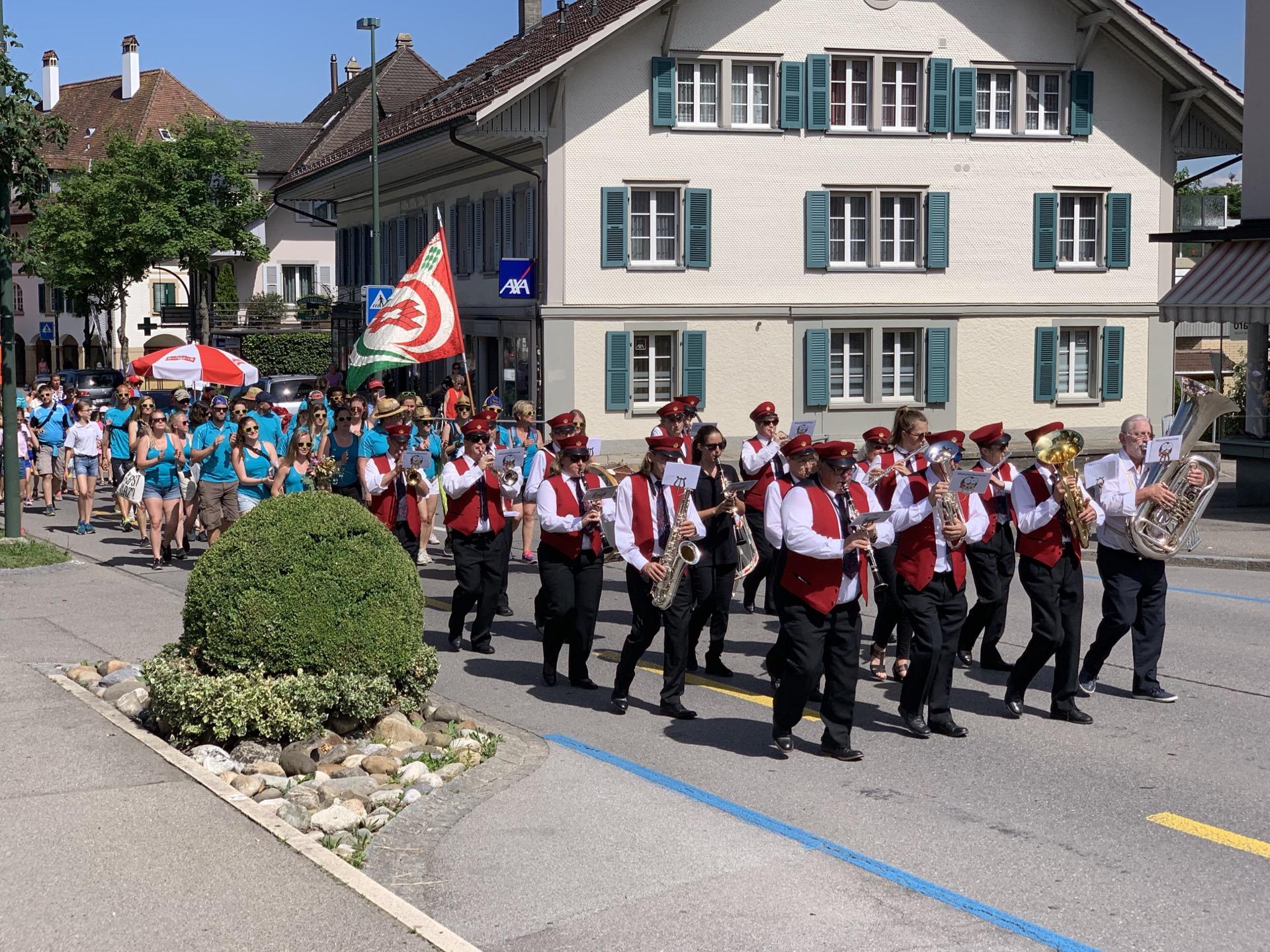 2019 ETF Aarau - Empfang Marsch auf Oberdorfstrasse